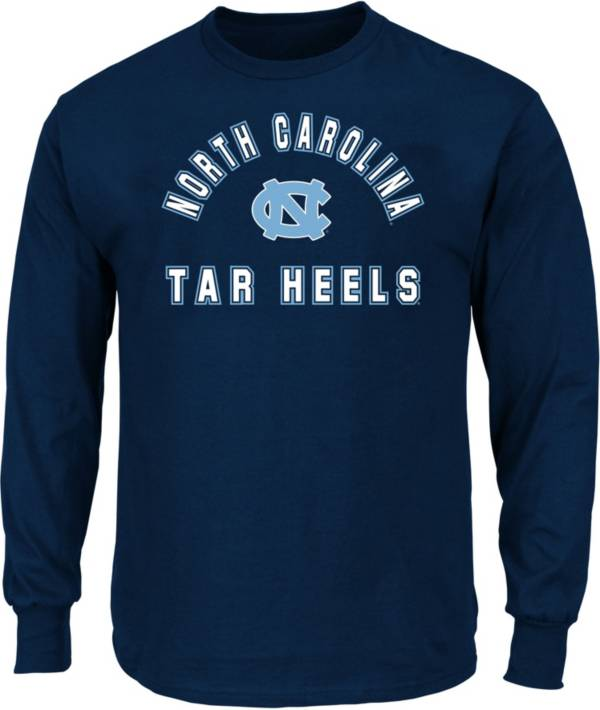 Profile Varsity Men's Big and Tall North Carolina Tar Heels Navy Long Sleeve T-Shirt product image