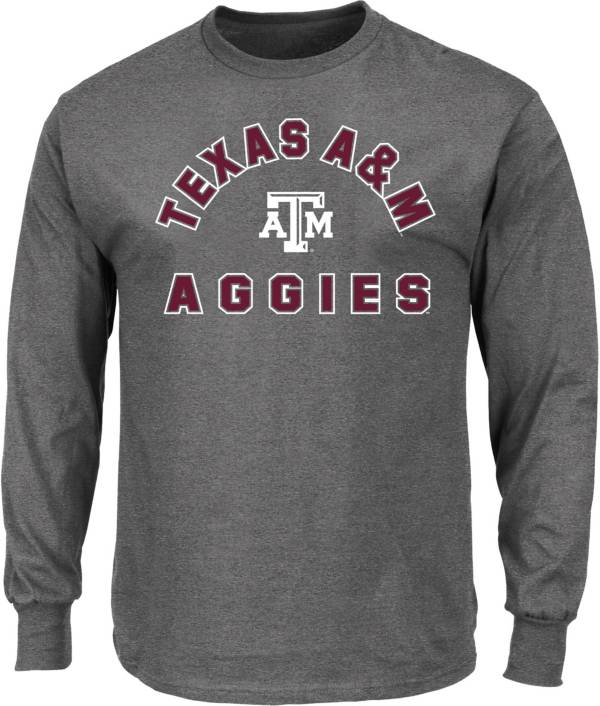 Majestic Men's Big and Tall Texas A&M Aggies Grey Long Sleeve T-Shirt product image
