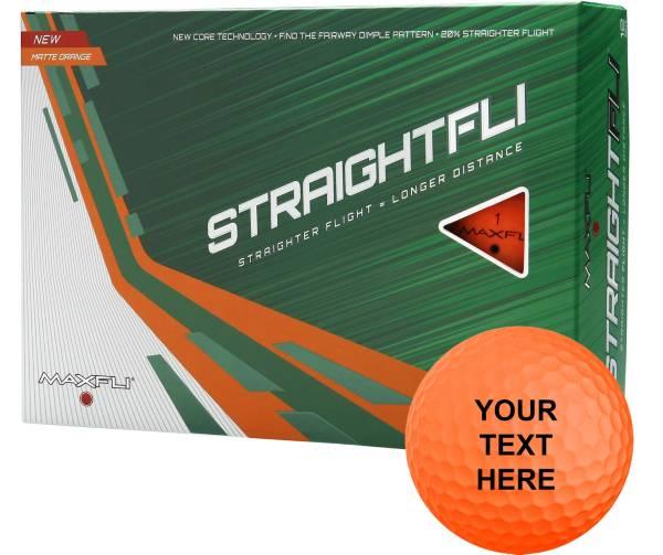 Maxfli Straightfli Orange Personalized Golf Balls product image