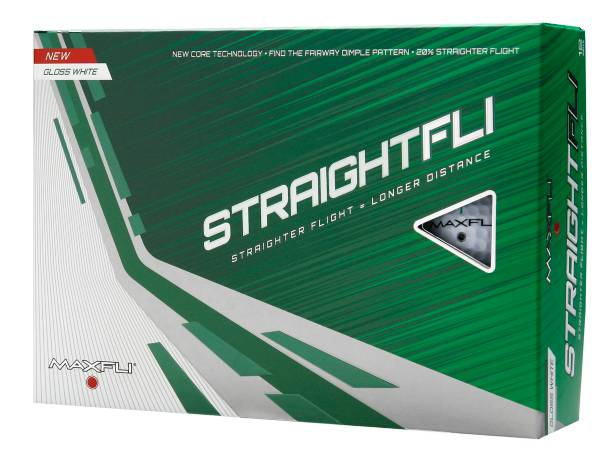 Maxfli Straightfli Gloss White Golf Balls product image