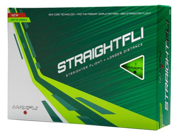 Maxfli Straightfli Matte Green Golf Balls product image
