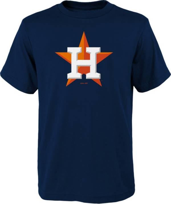 MLB Team Apparel Youth Houston Astros Navy Logo T-Shirt product image