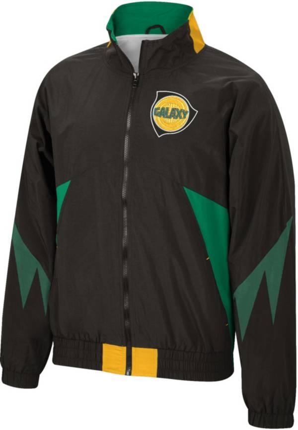 Mitchell & Ness Men's Los Angeles Galaxy '96 Retro Victory Black Windbreaker Jacket product image