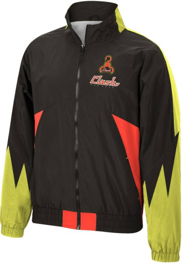 Mitchell & Ness Men's San Jose Clash '96 Retro Victory Black Windbreaker Jacket product image