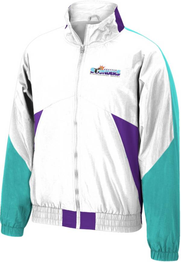 Mitchell & Ness Men's Seattle Sounders '96 Retro Victory White Windbreaker Jacket product image
