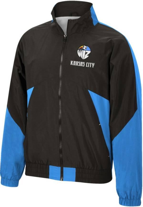 Mitchell & Ness Men's Kansas City Wiz '96 Retro Victory Black Windbreaker Jacket product image