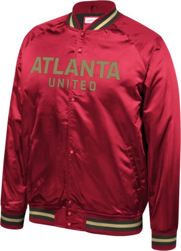 Mitchell & Ness Men's Atlanta United Lightweight Satin Red Jacket product image