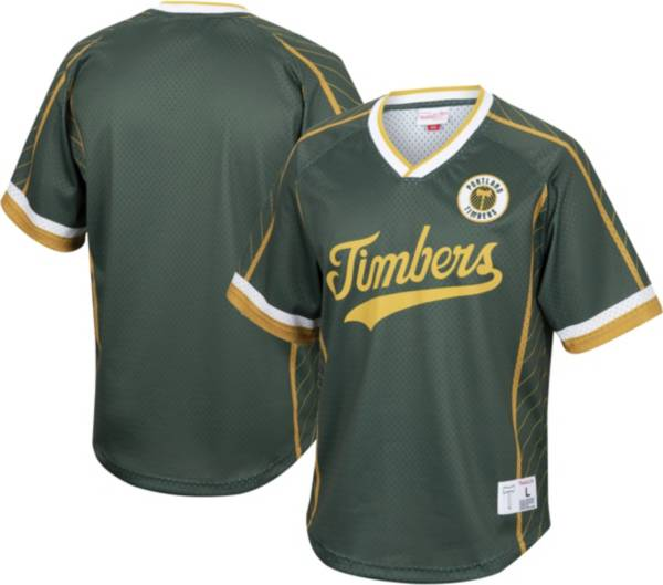 Mitchell & Ness Men's Portland Timbers '96 Retro Green V-Neck Jersey product image