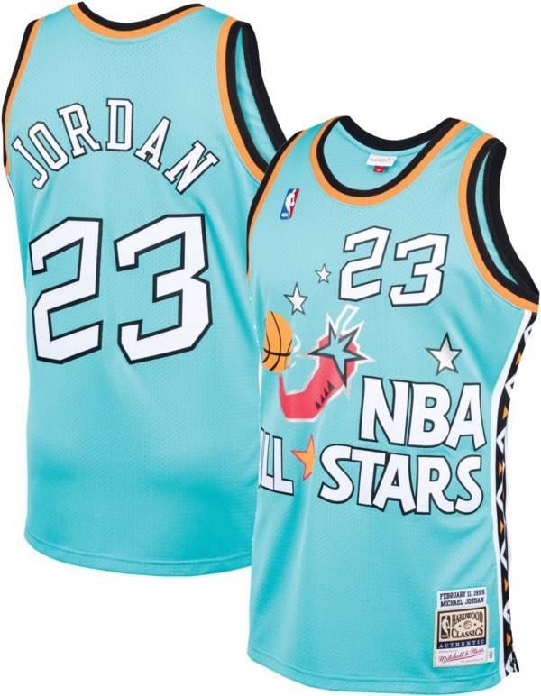Mitchell & Ness Men's Chicago Bulls All Star Game '96 Michael Jordan #23 Teal Swingman Jersey product image