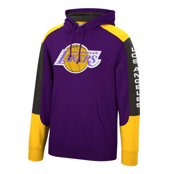Mitchell & Ness Men's Los Angeles Lakers Purple Fusion Hoodie product image