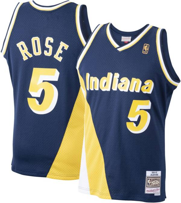 Mitchell & Ness Men's Indiana Pacers Derrick Rose #5 Navy Swingman Jersey product image