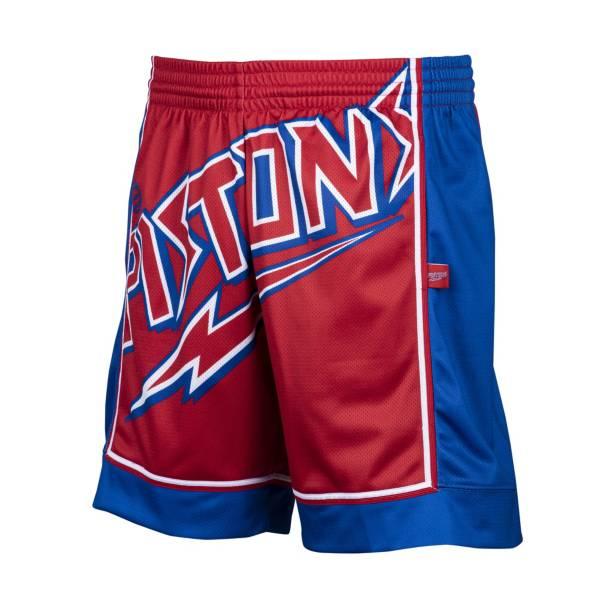 Mitchell & Ness Men's Detroit Pistons Big Face Shorts product image