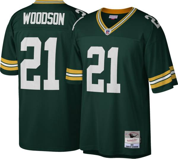 Mitchell & Ness Men's Green Bay Packers Charles Woodson #21 Green 2010 Home Jersey product image