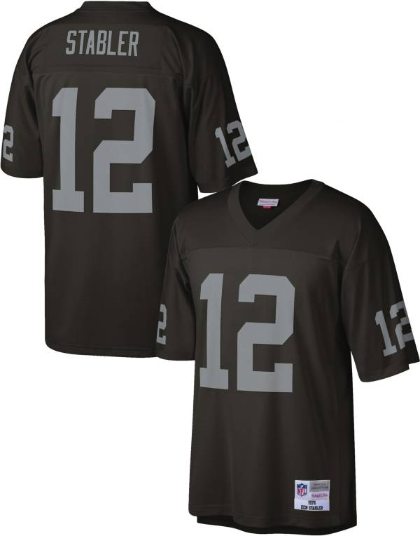 Mitchell & Ness Men's Las Vegas Raiders Kenny Stabler #12 1976 Black Jersey product image