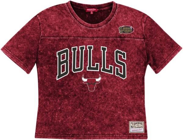 Mitchell & Ness Women's Chicago Bulls Red Acid Wash Hardwood Classics T-Shirt product image