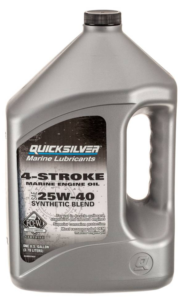 Quicksilver Synthetic Blend 4 Stroke Marine Motor Oil product image