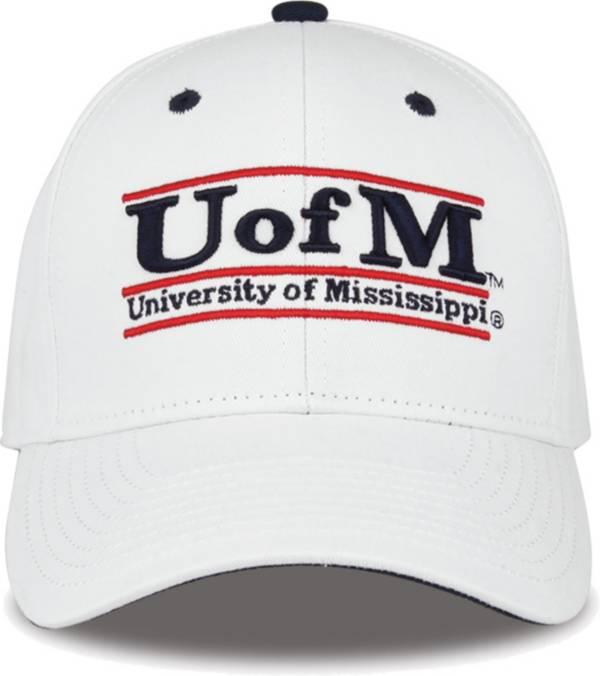 The Game Men's Ole Miss Rebels White Bar Adjustable Hat product image