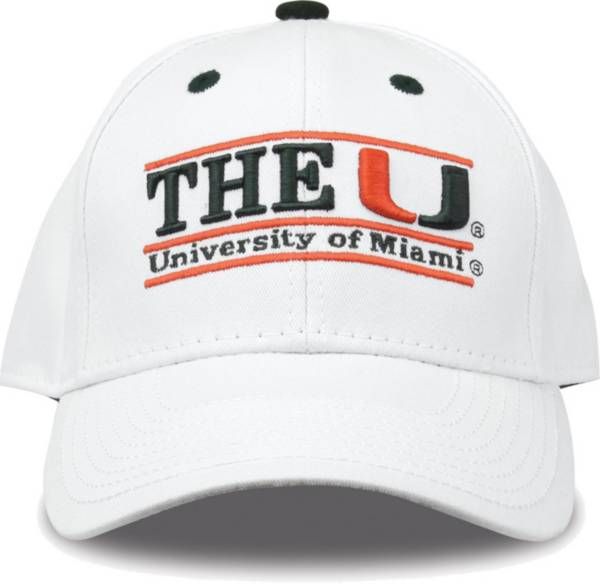 The Game Men's Miami Hurricanes White Nickname Adjustable Hat product image