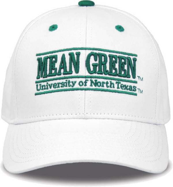 The Game Men's North Texas Mean Green White Bar Adjustable Hat product image