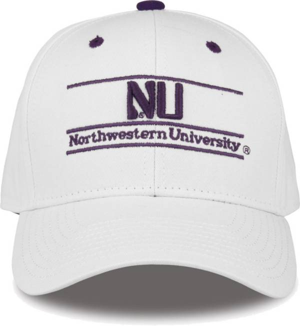 The Game Men's Northwestern Wildcats White Bar Adjustable Hat product image
