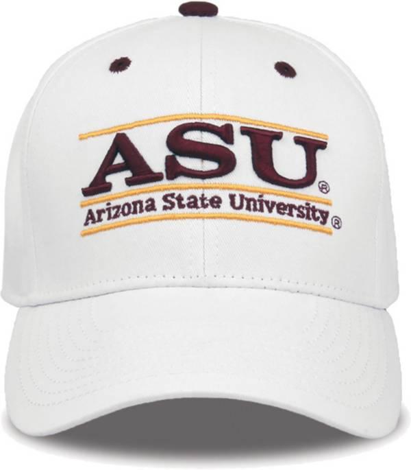 The Game Men's Arizona State Sun Devils White Bar Adjustable Hat product image