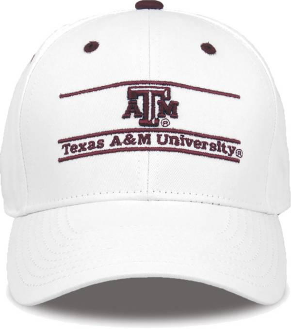 The Game Men's Texas A&M Aggies White Bar Adjustable Hat product image