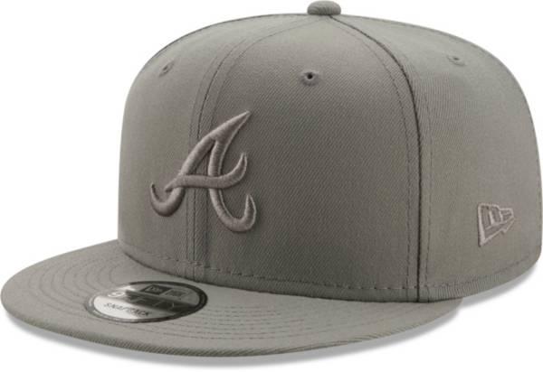 New Era Men's Atlanta Braves Grey 9Fifty Color Pack Adjustable Hat product image