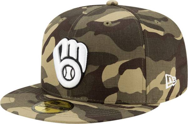 New Era Men's Milwaukee Brewers Camo Armed Forces 59Fifty Fitted Hat product image