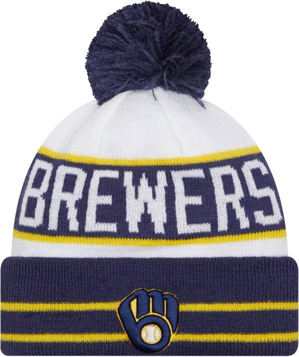 New Era Men's Milwaukee Brewers Navy Fan Favorite Knit Hat product image