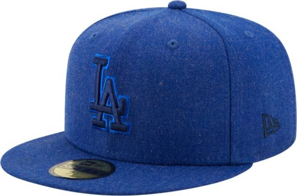 New Era Men's Los Angeles Dodgers 59Fifty Blue Heather Classic Fitted Hat product image