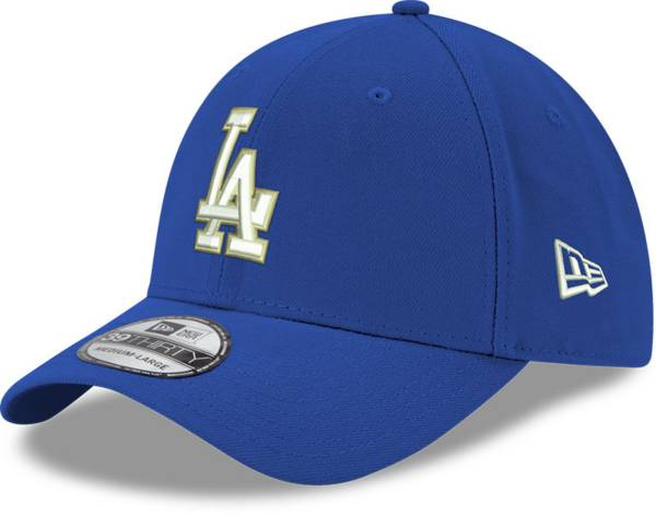 New Era Men's Los Angeles Dodgers Dodger Blue Gold Collection 39Thirty Fitted Hat product image