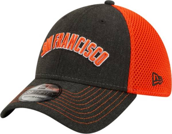 New Era Men's San Francisco Giants Black 39Thirty Heathered Stretch Fit Hat product image
