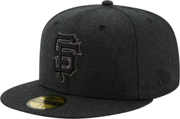New Era Men's San Francisco Giants 59Fifty Black Heather Classic Fitted Hat product image