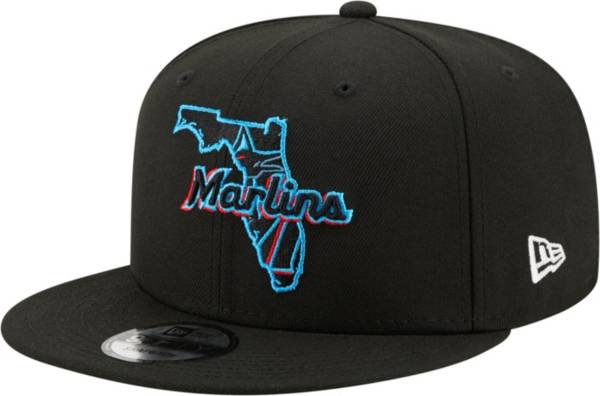 New Era Men's Miami Marlins 9Fifty Black Local Adjustable Hat product image