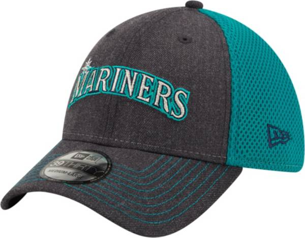 New Era Men's Seattle Mariners Navy 39Thirty Heathered Stretch Fit Hat product image