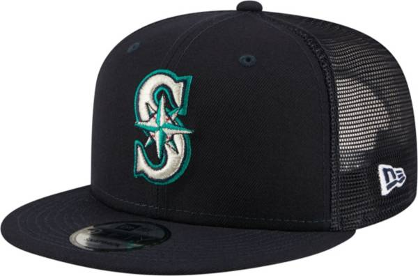 New Era Men's Seattle Mariners 9Fifty Navy Classic Trucker Adjustable Hat product image