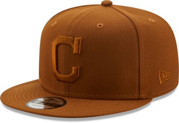 New Era Men's Cleveland Indians Tan 9Fifty Color Pack Adjustable Hat product image