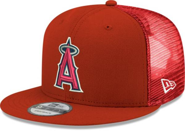 New Era Men's Los Angeles Angels Red 9Fifty Classic Trucker Adjustable Hat product image