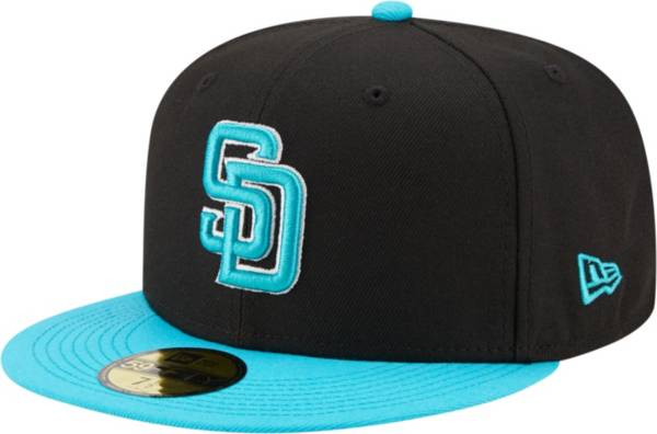 New Era Men's San Diego Padres 59Fifty Black Fitted Hat product image