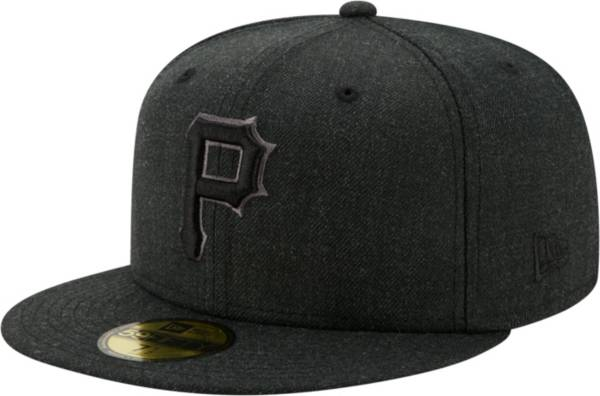 New Era Men's Pittsburgh Pirates 59Fifty Black Heather Classic Fitted Hat product image