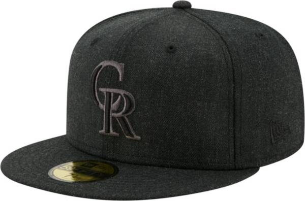 New Era Men's Colorado Rockies 59Fifty Black Heather Classic Fitted Hat product image
