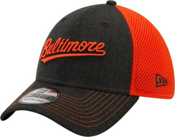 New Era Men's Baltimore Orioles Black 39Thirty Heathered Stretch Fit Hat product image