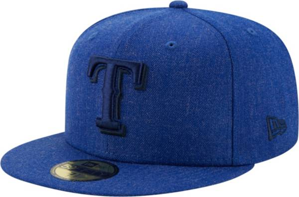 New Era Men's Texas Rangers 59Fifty Blue Heather Classic Fitted Hat product image