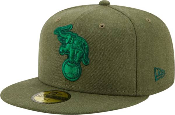 New Era Men's Oakland Athletics 59Fifty Green Heather Classic Fitted Hat product image