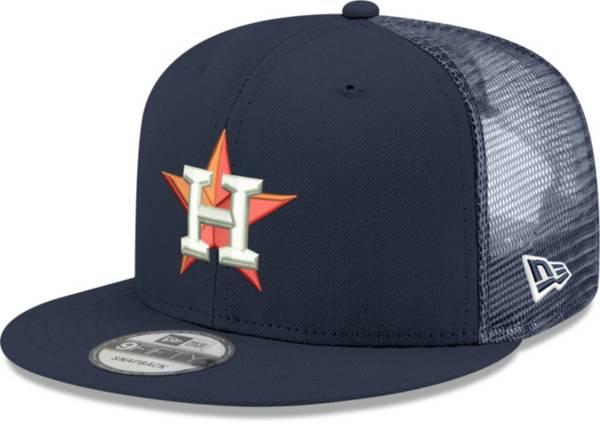New Era Men's Houston Astros Navy 9Fifty Classic Trucker Adjustable Hat product image