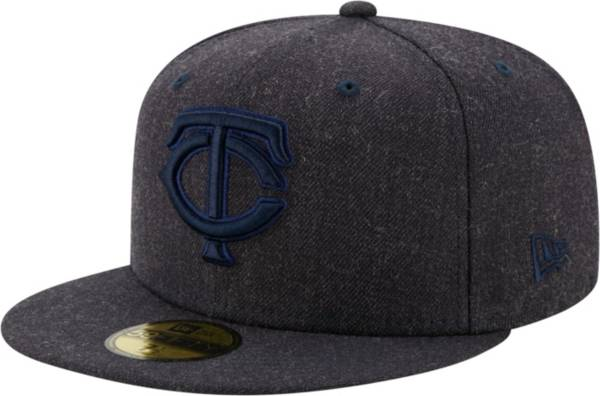 New Era Men's Minnesota Twins 59Fifty Navy Heather Classic Fitted Hat product image