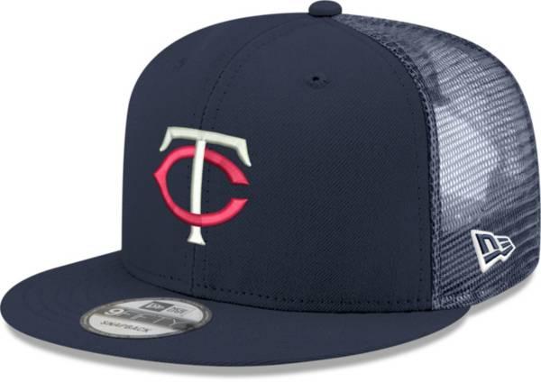 New Era Men's Minnesota Twins Navy 9Fifty Classic Trucker Adjustable Hat product image