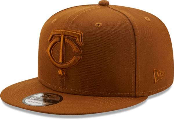 New Era Men's Minnesota Twins Tan 9Fifty Color Pack Adjustable Hat product image