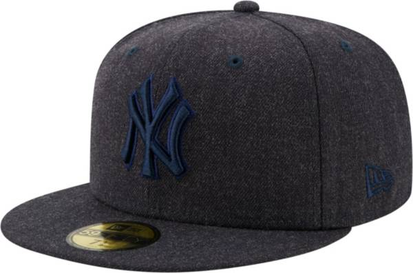 New Era Men's New York Yankees 59Fifty Navy Heather Classic Fitted Hat product image