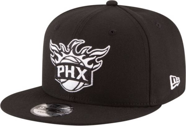 New Era Men's Phoenix Suns 9Fifty Black and White Adjustable Snapback Hat product image